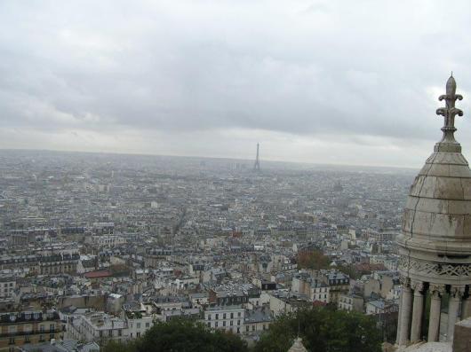 """פריז - מבט מגג כנסיית """"הלב הקדוש"""" במונמרטר"""
