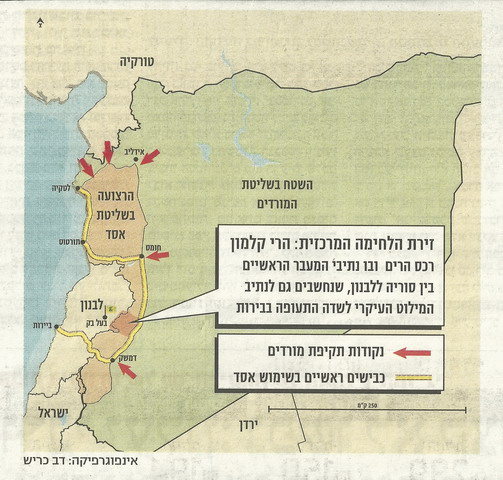 מפת סוריה ומעברי לבנון_resize