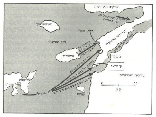 קרב גליפולי 1917 [מקור: ז'וק, ע' 229[